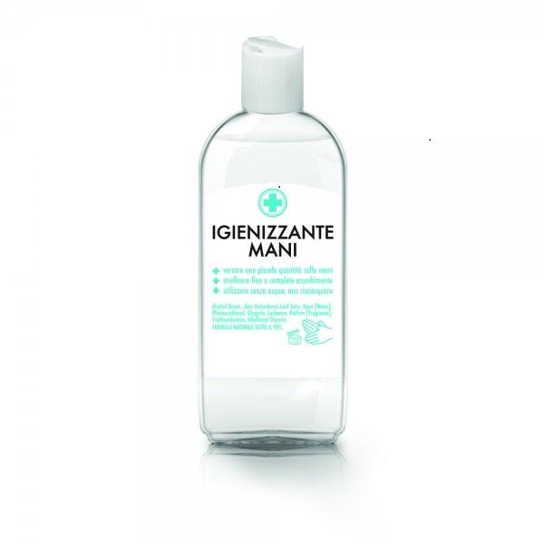 gel igienizzante per mani utilizzo senz'acqua
