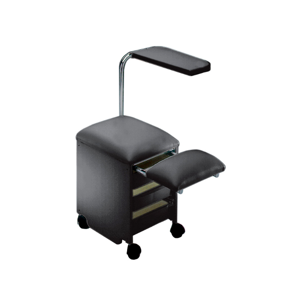 Pediservice nero carrello pedicure con 3 cassetti