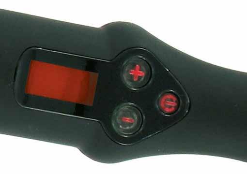Il led rosso indica che il ferro a raggiunto la massima temperatura di 210°C