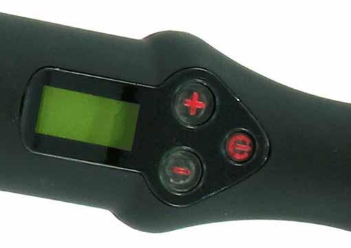 Il led verde indica che il ferro è alla temperatura di 180°C