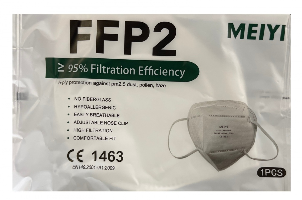 mascherina filtrante ffp2 bianca
