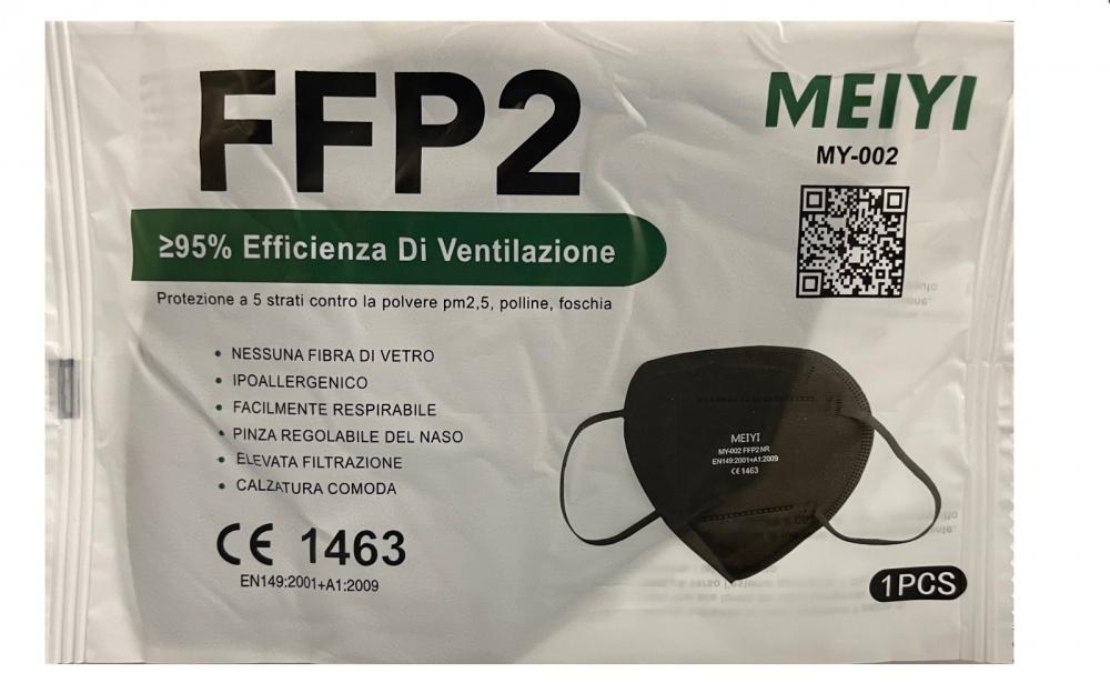 mascherina filtrante ffp2 nera