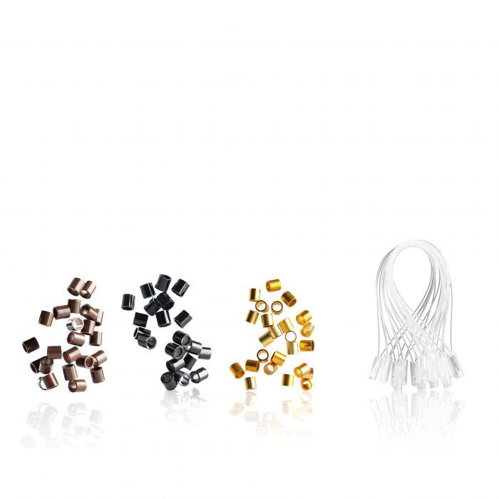 Confezione Ring Ricambi per Ciocche Nero